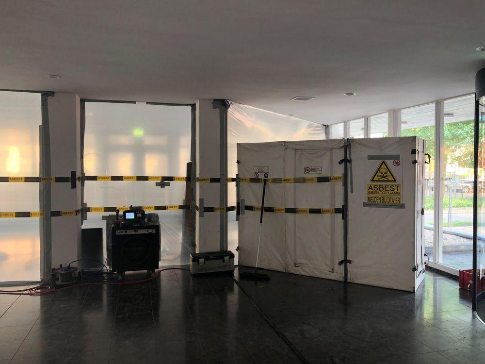 Asbest schoorsteen in Nijmegen
